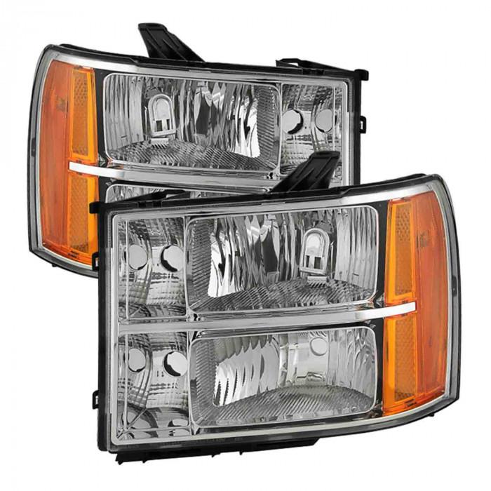 Spyder® - Chrome Crystal Factory Style Headlights