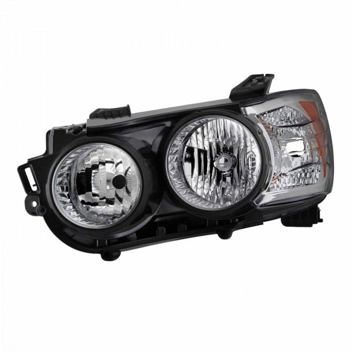 Spyder® - Driver Side Black Halogen Headlight