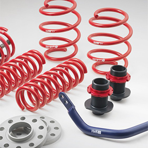 H and R produces multiple spring lines, cup kits, coil overs, ETS electronic lowering modules, VTF adjustable lowering springs and others.