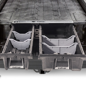 The DECKED system delivers a true 2000 lbs deck distributed payload rating.