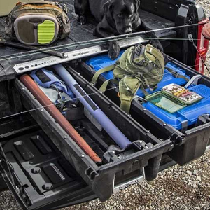 DECKED revolutionizes in-vehicle storage with an innovative, weatherproof and ergonomic solution for almost every full size pickup truck.