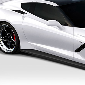 A pair of Duraflex Side Skirts install on the side of the vehicle create a lower stance, and gives more aggressive look.