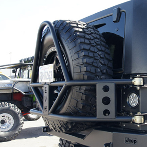 EVO Manufacturing tire carrier kits, rock sliders, and many other products have been proven to withstand even the harshest rallies and competitions.