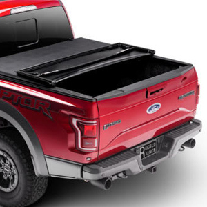 Rugged Liner's Premium Soft Folding Cover features OE quality perimeter seals, an overlapping cab dust seal to protect your cargo in all weather conditions.