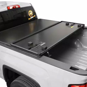 Rugged Liner's E-Series Hard Folding Cover features panels manufactured with aluminum skins and solid cores to provide strength and durability.