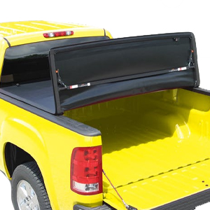 The E-Series Soft Folding Cover offers economical and convenient truck bed protection and an overlapping cab dust seal to prevent moisture and water intrusion.